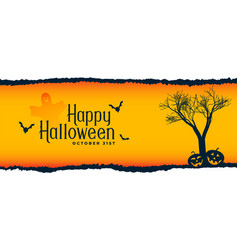 halloween festival scene with tree flying bats vector image