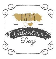 Happy Valentines Day lettering Typography vector