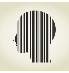 Head stroke a code vector image