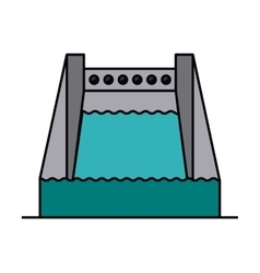 hydropower isolated icon design vector image