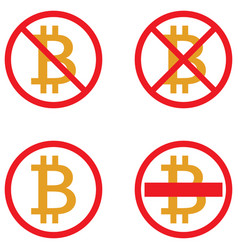 icons of bitcoin crypto currency symbols vector image