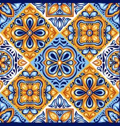 Italian ceramic tile pattern mediterranean vector