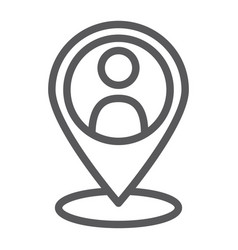 local seo line icon optimisation and location vector image