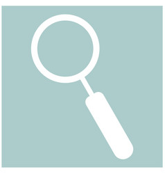 loupe the white color icon vector image vector image