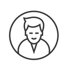 man circle avatar line icon sig vector image