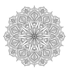 Mandala design element coloring book vector