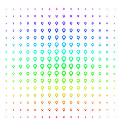Map marker shape halftone spectral grid vector
