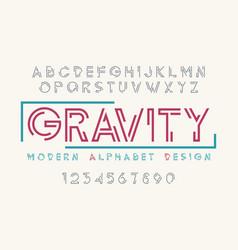 modern display font design alphabet character set vector image