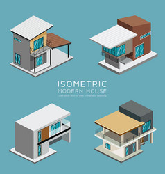 modern house isometric collections design vector image