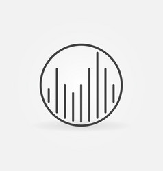 music equalizer in circle linear concept vector image