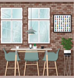 My dinner room vector