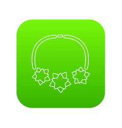 necklace star icon green vector image