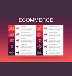 Necommerce infographic 10 option templateonline vector