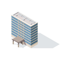 offices isometric architecture building facade vector image