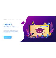 Online courses concept landing page vector