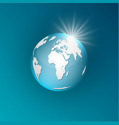 Planet earth on a blue background vector