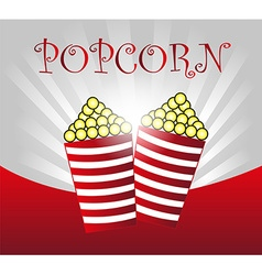 popcorn background vector image