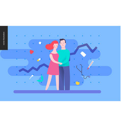 reproduction - a couple planning a baby vector image