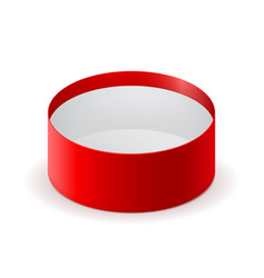 round open box red box vector image