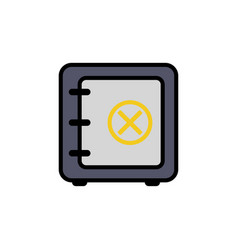 safe box flat icon sign symbol vector image