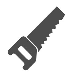 Saw solid icon carpentry vector