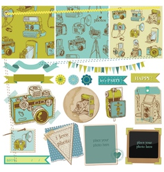 Scrapbook Design Elements - Vintage Photo Camera vector image