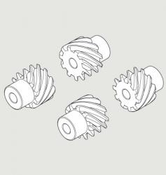 Screw gear 10t vector