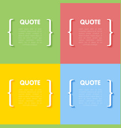 Set of circle frames for quotes vector
