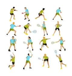 Set of people playing tennis ping-pong vector