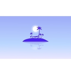 Silhouette of islands beautiful landscape vector