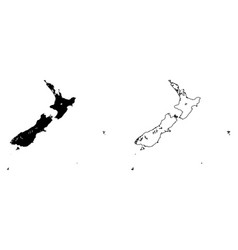 Simple only sharp corners map new zealand vector