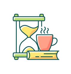 Slow living rgb color icon vector