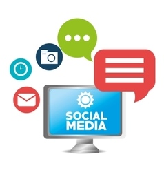 Social media concept technology communication vector