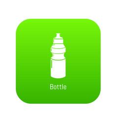 sport bottle icon green vector image