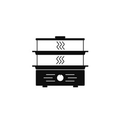 Steamer simple icon kitchen appliance isolated on vector