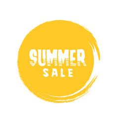 summer sale letter in round grunge orange circle vector image