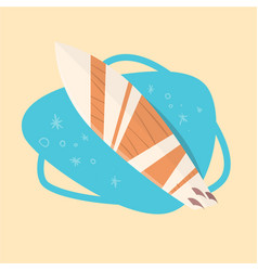 Surfing board icon summer sea vacation concept vector