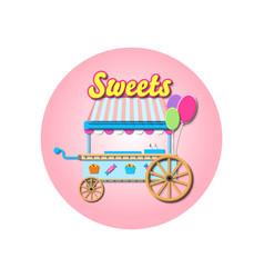 Sweets cart mockup vector