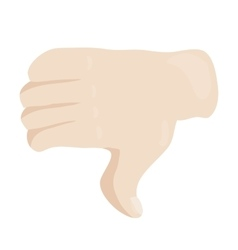 Thumbs down or dislike hand icon cartoon style vector image