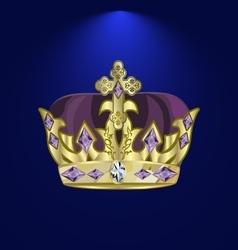 Tiara with precious stones 5 vector
