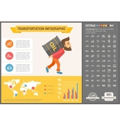 Transportation flat design infographic template vector