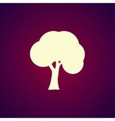 trees icons Flat design style vector image