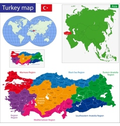 Turkey map vector image