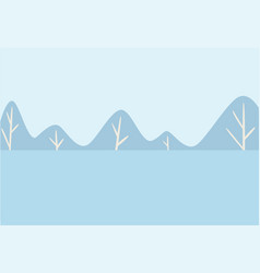 winter landscape snowy forest or woods cold vector image