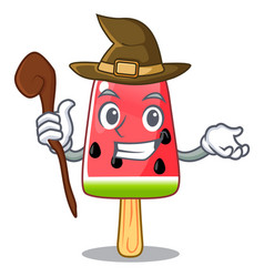 witch red watermelon ice cream cartoon shaped vector image