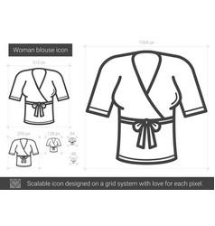 Woman blouse line icon vector
