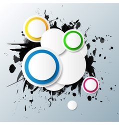 Abstract colorful background with circles vector image vector image