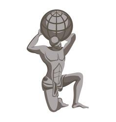 atlas monument greek mythology character titan vector image