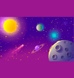 dynamic colorful outer space background vector image