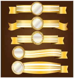 Gold and silver banner vector image